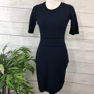 Banana Republic Navy/Black Sweater Dress - S